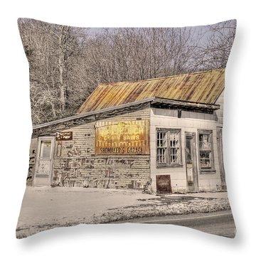 Shoemaker's Garage Throw Pillow by Benanne Stiens