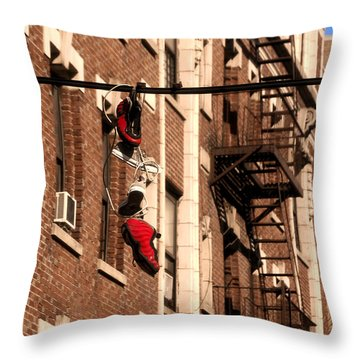 Shoes Hanging Throw Pillow by RicardMN Photography