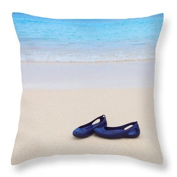 Shoes In Paradise Throw Pillow