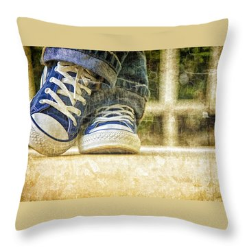 Throw Pillow featuring the photograph Shoes by Linda Blair