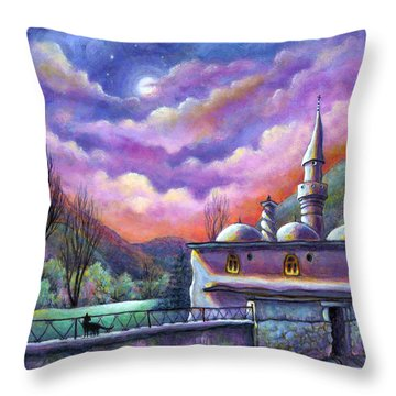 Shoot For The Moon Throw Pillow by Retta Stephenson