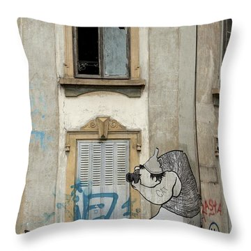 Throw Pillow featuring the photograph Shoot To Thrill by Colleen Williams