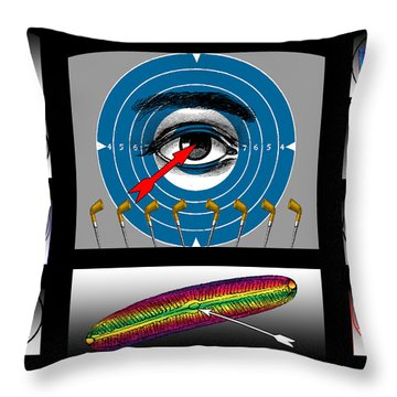 Shooting Gallery II Throw Pillow