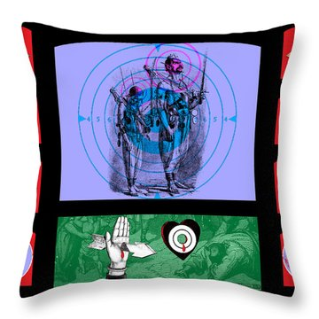Shooting Gallery Iv Throw Pillow by Eric Edelman
