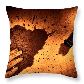 Shooting Throw Pillow by Olivier Le Queinec