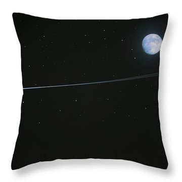 Throw Pillow featuring the digital art Shooting Star by Pete Trenholm