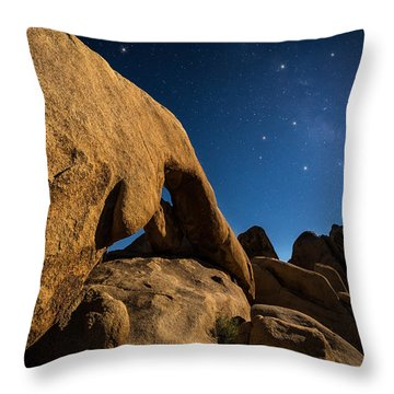 Shooting Star Throw Pillow by Tassanee Angiolillo