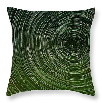 Shooting Star Trails Throw Pillow