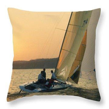 Shooting The Breeze - Lake Geneva Wisconsin Throw Pillow