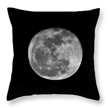Shooting The Moon Throw Pillow