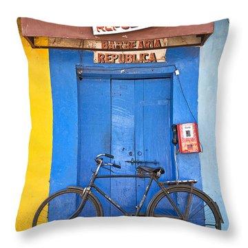 Shop On Street In Goa India Throw Pillow