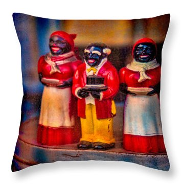 Throw Pillow featuring the photograph Shop Window Trio by Chris Lord