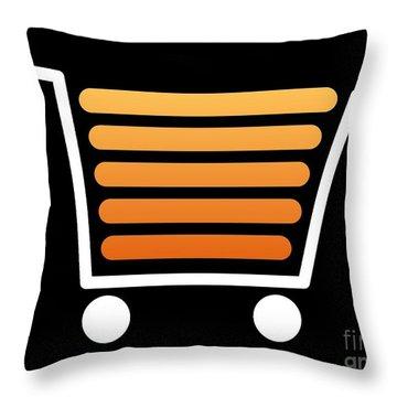 Shopping Cart White Throw Pillow by Henrik Lehnerer
