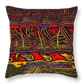 Shopping Carts Throw Pillow by Richard Farrington