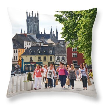 Shopping Trip Throw Pillow by Mary Carol Story