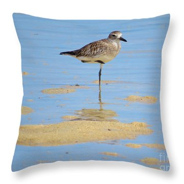 Shore Bird In Palawan Throw Pillow