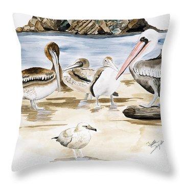 Shore Birds Throw Pillow