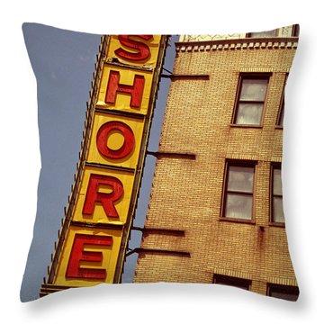 Shore Building Sign - Coney Island Throw Pillow