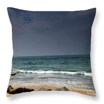 Shore Line Throw Pillow by Ramabhadran Thirupattur
