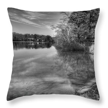 Shore Of Serenity Throw Pillow by Michelle Wiarda