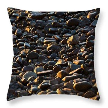 Shore Stones Throw Pillow by Steve Gadomski