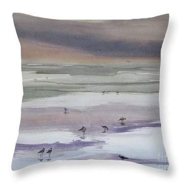 Shoreline Birds II Throw Pillow