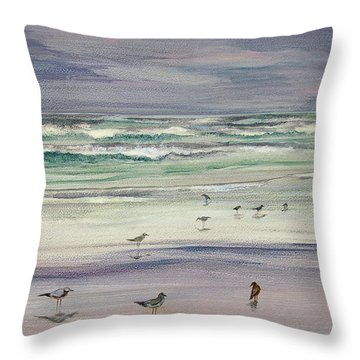 Shoreline Birds IIi Throw Pillow