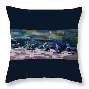 Shoreline Birds Iv Throw Pillow