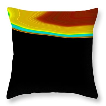 Throw Pillow featuring the painting Shoreline I  C2014 by Paul Ashby