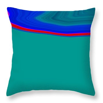 Throw Pillow featuring the painting Shoreline II C2014 by Paul Ashby