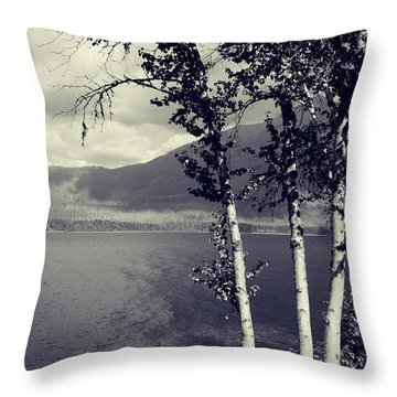 Shoreline Throw Pillow by Leanna Lomanski