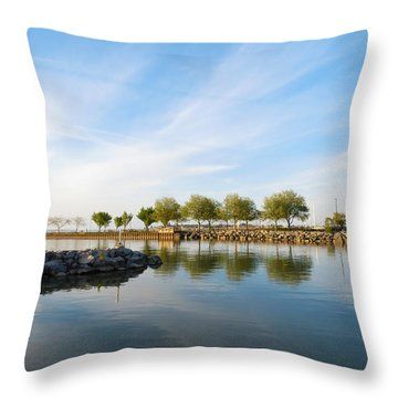 Shoreline Park Throw Pillow