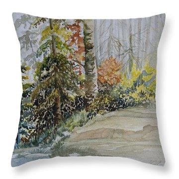 Shoreline Sketch Throw Pillow