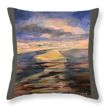 Shoreline Sunrise 11-9-14 Throw Pillow