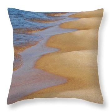 Shoreline Wavy Throw Pillow by Kathi Mirto