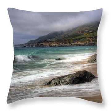Shores Of Big Sur Throw Pillow