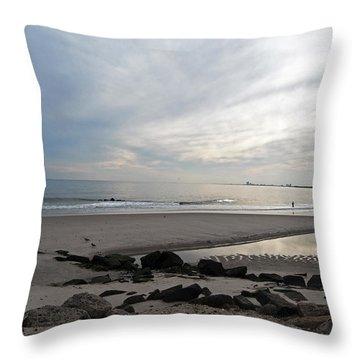 Shores Of Holgate Throw Pillow by Elsa Marie Santoro