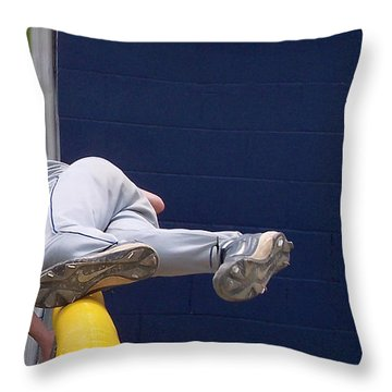 Short Cut Over The Fence Throw Pillow by Thomas Woolworth