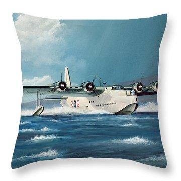 Short Sunderland Throw Pillow by Richard Wheatland