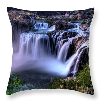 Shoshone Falls Throw Pillow