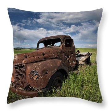 Shot Up Throw Pillow by Leland D Howard