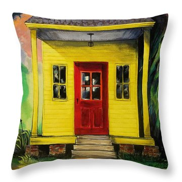 Shotgun House Throw Pillow