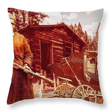 Shotgun Mary Throw Pillow