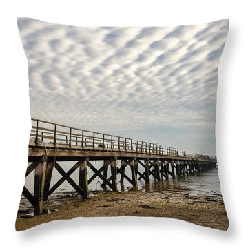Shotley Coast Throw Pillow by Svetlana Sewell