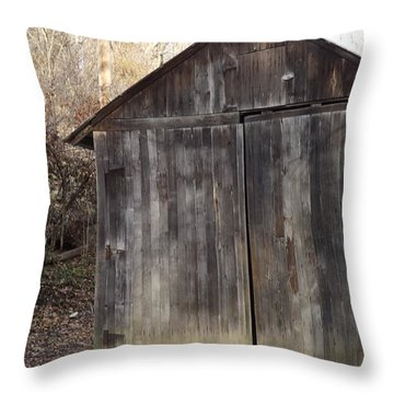 Shovel Garage Throw Pillow