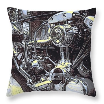 Shovelhead Hawg Throw Pillow