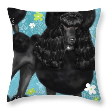 Show Dog Poodle Throw Pillow