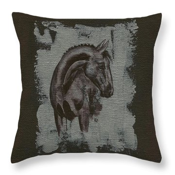 Show Horse Throw Pillow