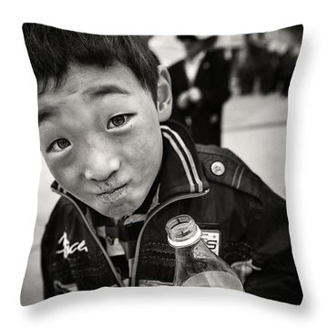 Throw Pillow featuring the photograph Show Me Sir  by Michel Verhoef
