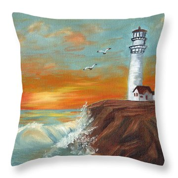 Show Me The Way Throw Pillow by J Cheyenne Howell